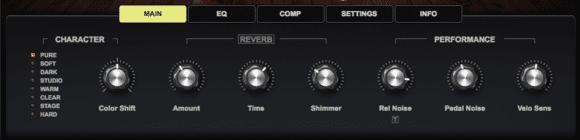 Die Klangbearbeitung des Yamaha C7 Konzertflügels.