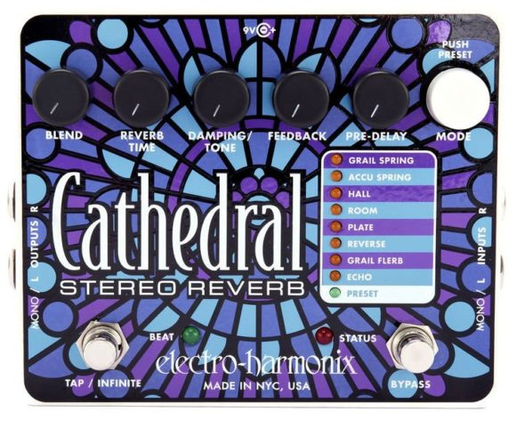 -- Himmlisch viel Raum bietet das Cathedral Stereo Reverb von Electro-Harmonix --