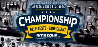 Championship: Die besten Analogsynthesizer unter 1.000,- Euro