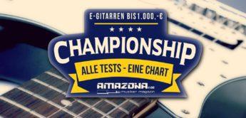 Championship: Die besten E-Gitarren bis 1.000,- Euro