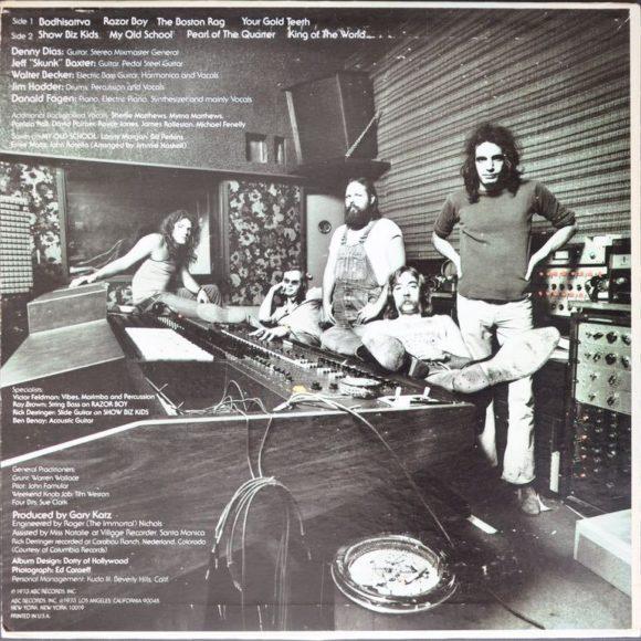 """Auf Coverrückseite von """"Countdown to Ecstasy"""" wirken Steeley Dan ganz entspannt. In Wirklichkeit brachte der ARP Soloist Donald Fagen zum ausflippen."""