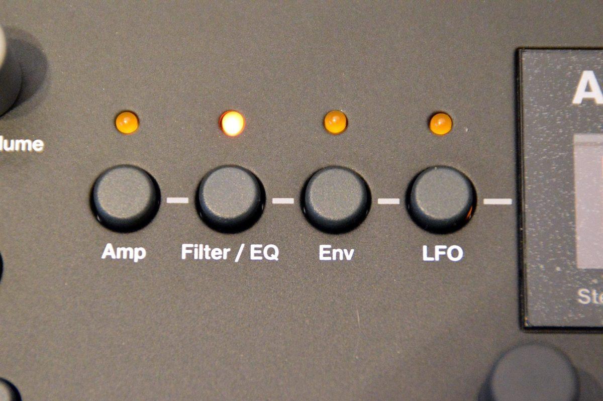 die verschiedenen Parametersektionen des Analog Heat