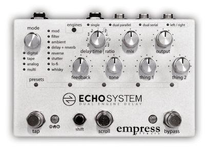 Die besten Delay Pedale Empress Echosystem