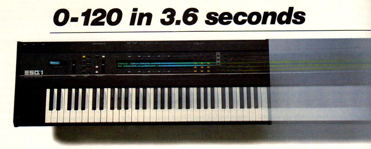 Ensoniq ESQ1 advertisement