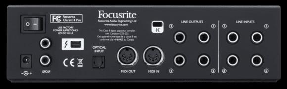 Focusrite Clarett 4Pre-back