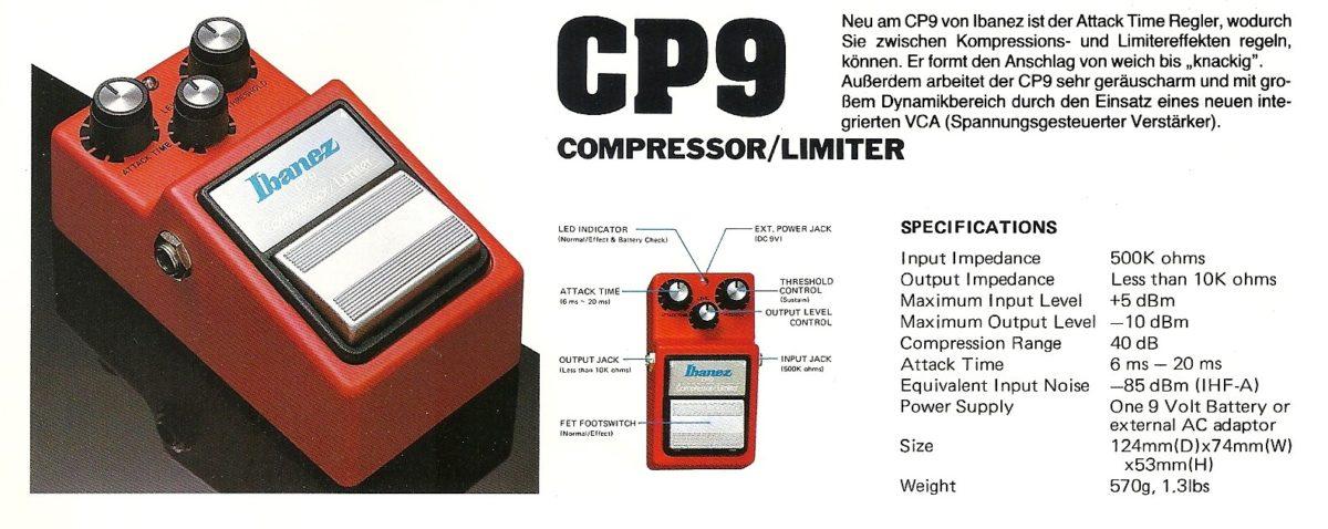 Ibanez CP9 1982 Prospekt