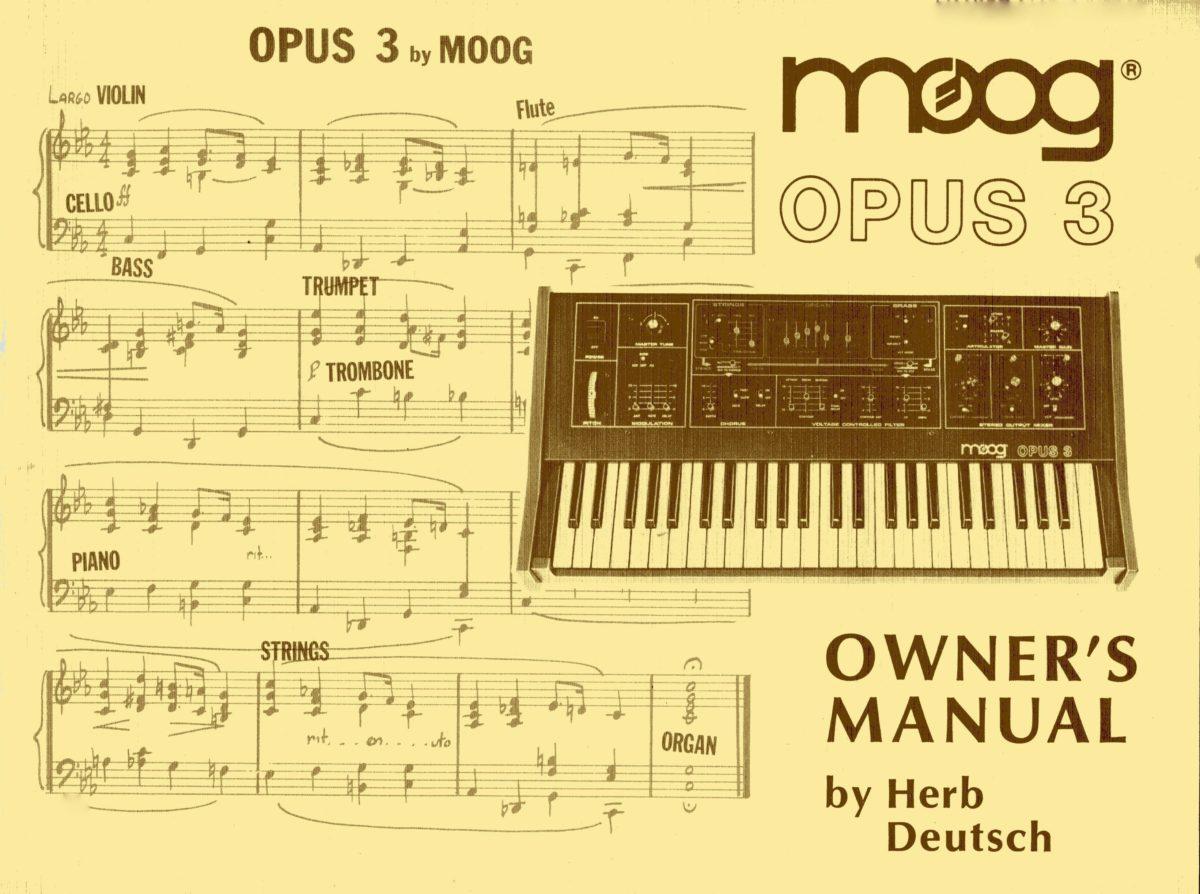Der Moog Opus 3 ist das Baby von Herbert Deutsch