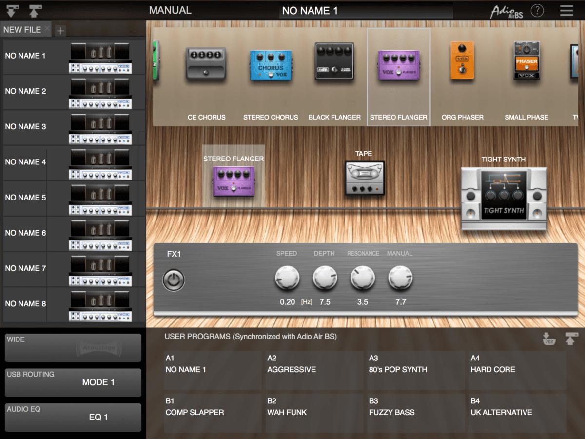 VOX Adio BS Tone Room App 2
