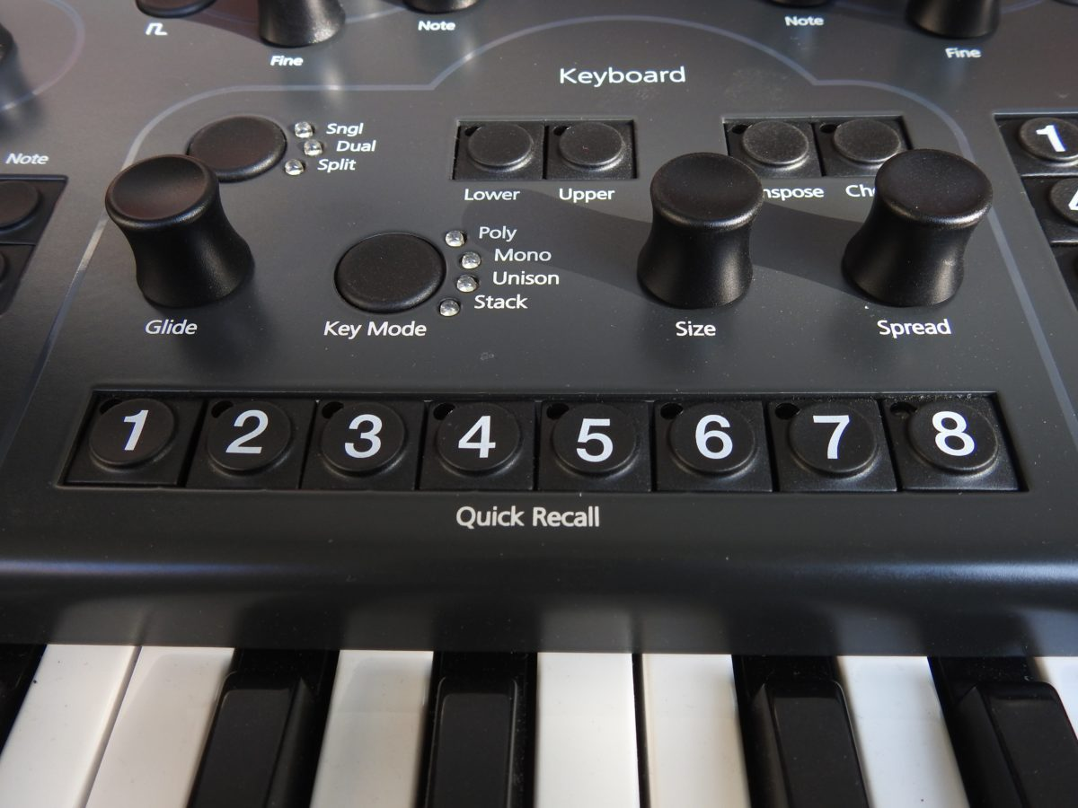 Modal 008 keyboard modes