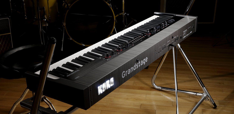 Professioneller Doppel Keyboard ständer für Keyboard Stagepianos auf der Bühne