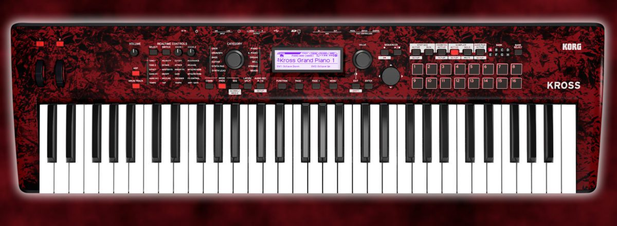 Korg Kross 2-61 RDM Red-Marble Limited Edition