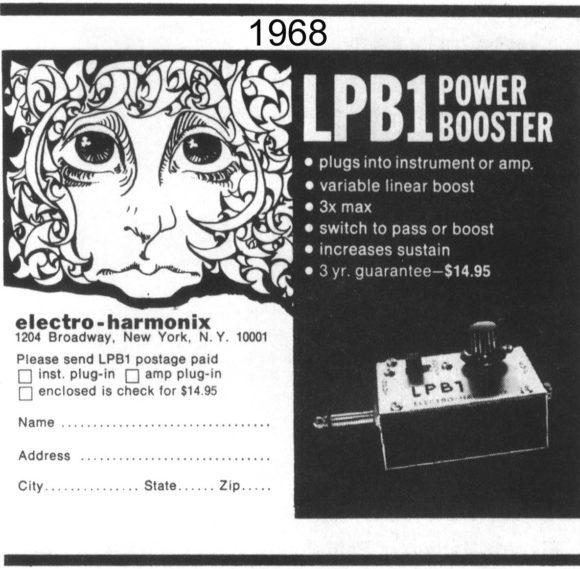 Die Geschichte von electro-harmonix Linear Power Booster (LPB-1)