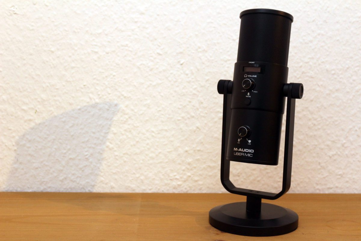 Ist schon fotogen: Das M-Audio Uber Mic
