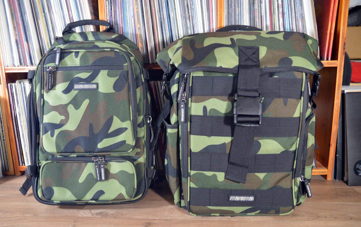 Magma DJ Stashpack XL Plus in Camo-Green und Magma Digi DJ-Backpack
