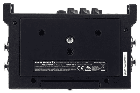 Marantz PMD-706 - Unterseite