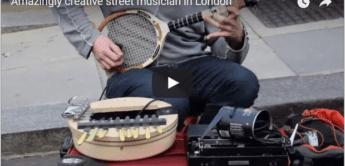 Talent: Mal wieder ein äußerst kreativer Straßenmusiker