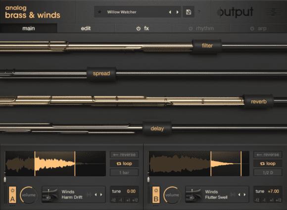 Output Analog Brass & Winds - Startscreen