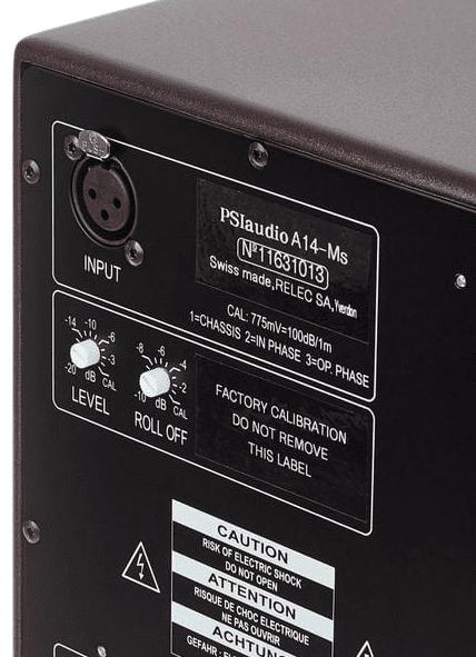 PSI Audio Active 14M Studio Red - Detail