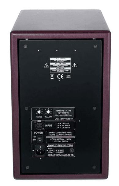 PSI Audio 21Ms-Rückseite