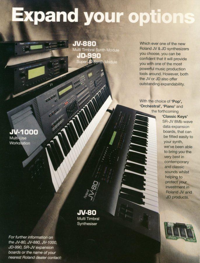 Roland JV1000 Werbung England