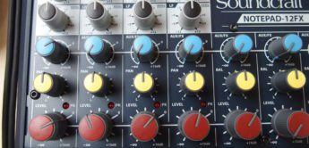 Test: Soundcraft Notepad-12FX, Kompaktmixer mit USB