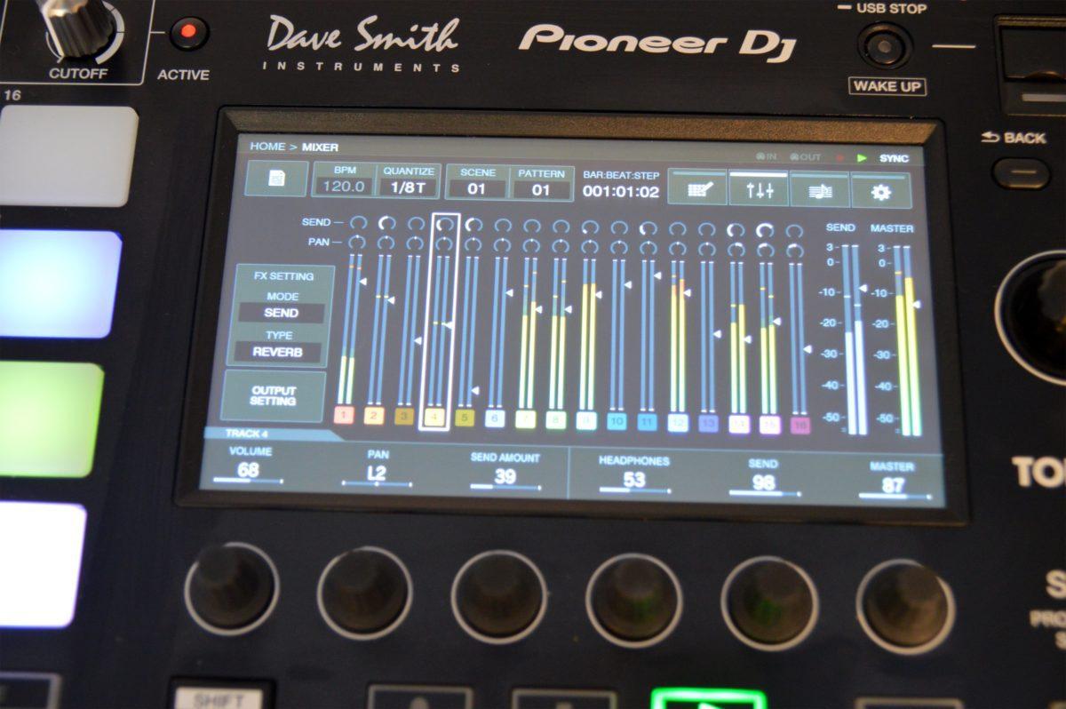 Der Mixer-Bildschirm des Toraiz