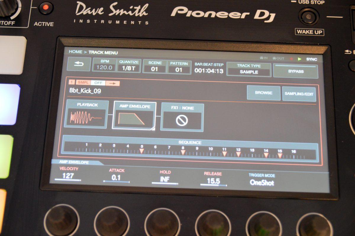 Die Samples können im Track Menü bearbeitet werden