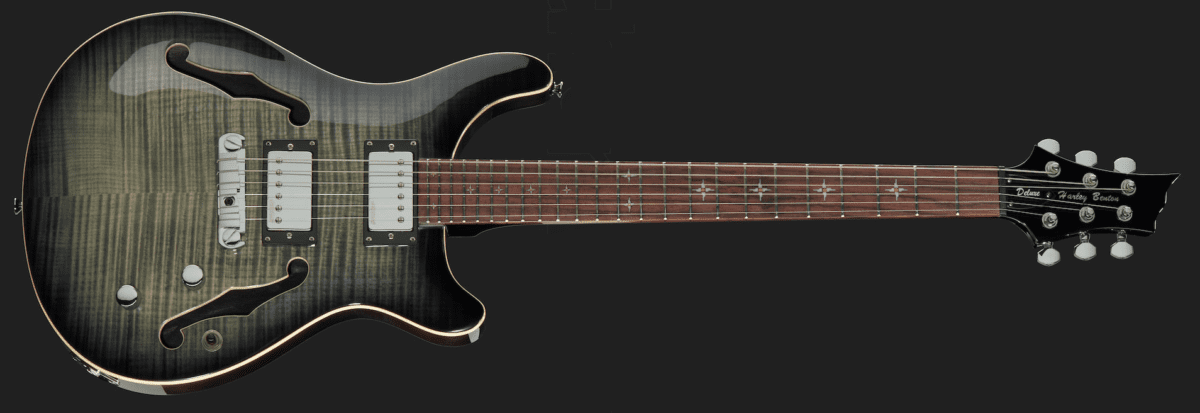 Harley Benton CST-24HB Charcoal Flame