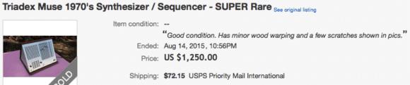 Triadex Muse auf ebay - selten und teuer