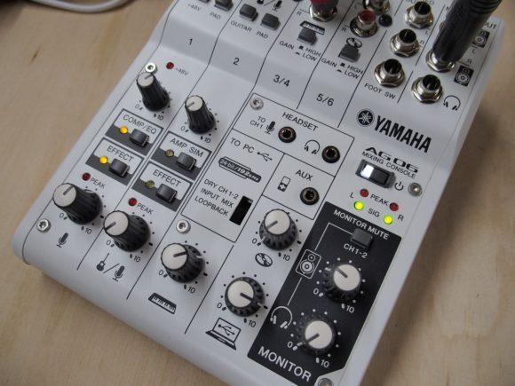 Ganz in weiß: Das Yamaha AG 06