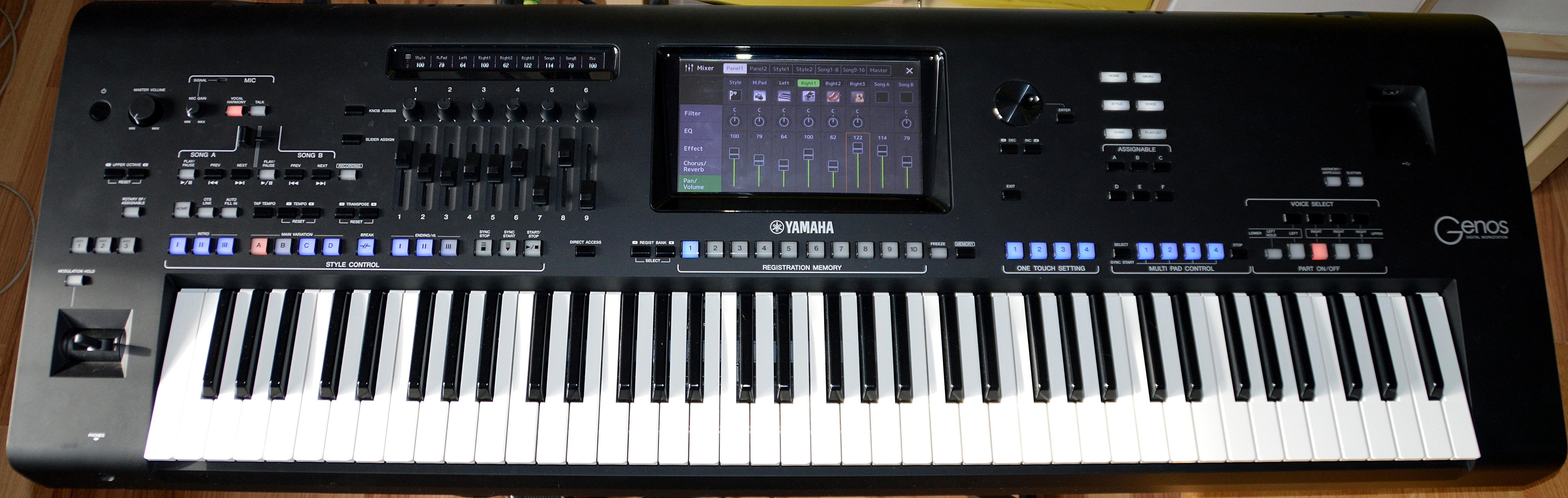test yamaha genos arranger workstation synthesizer. Black Bedroom Furniture Sets. Home Design Ideas