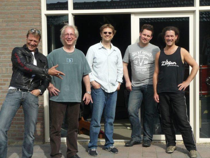 Die Band vor Beginn der Tour