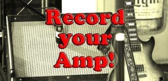 Gitarrenverstärker aufnehmen mit Speakersimulator