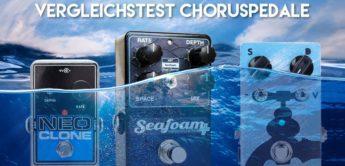 Vergleichstest: Jam Pedals WaterFall, Keeley Seafoam Plus und Electro Harmonix Neo Clone, Chorus Pedale für Gitarre