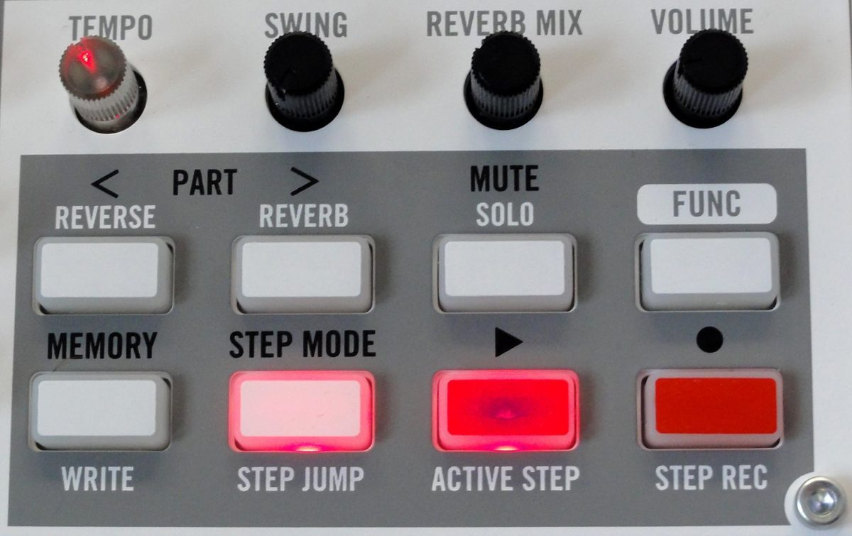 Volca sample buttons
