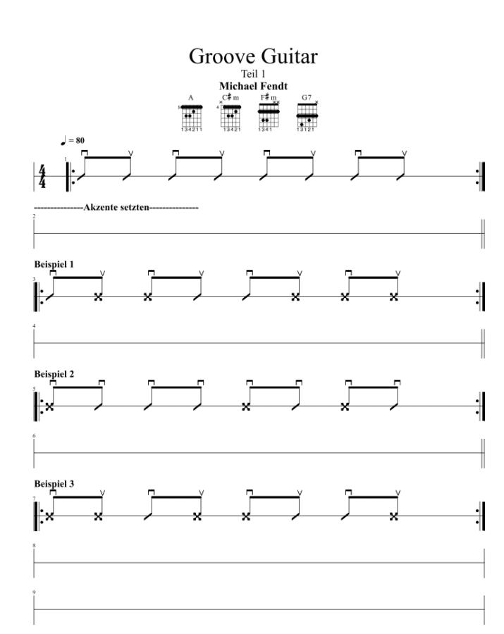 Groove Guitar Teil 1