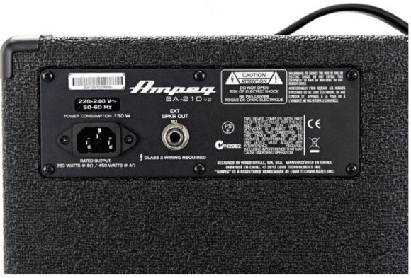 Da geht Was: Bei Anschluss einer Zusatzbox leistet der Ampeg BA 210 v2 beachtliche 450 Watt!