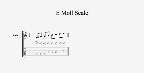 E Moll Scale