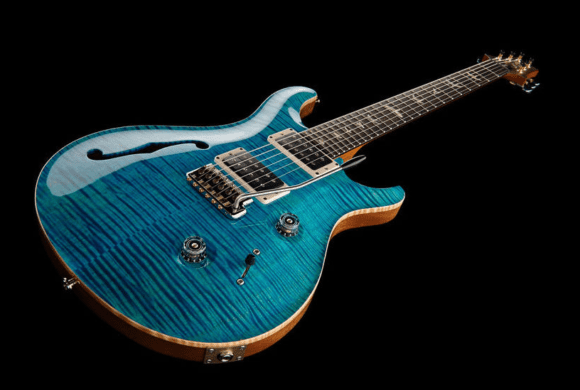 -- PRS Custom 24 Semi-Hollow Aqua ---