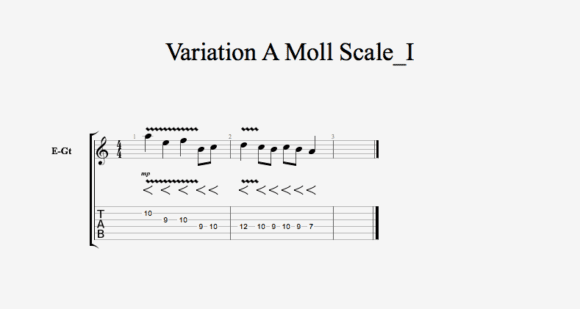 Variation A Moll Scale I