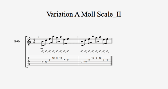 Variation A Moll Scale II