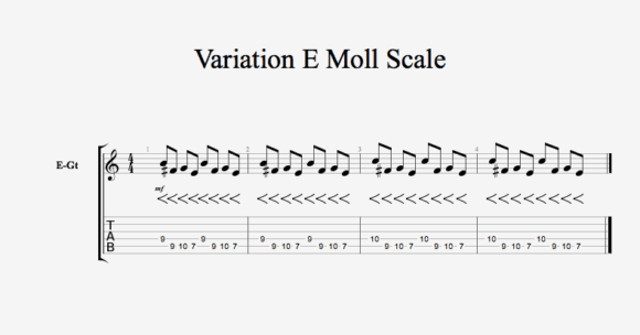 Variation E Moll Scale