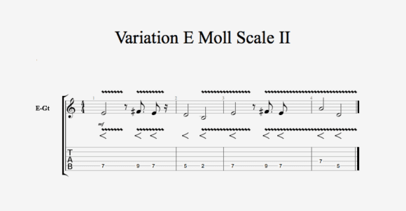 Variation E Moll Scale II