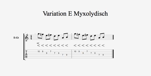 Variation E Myxolydisch