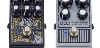 Vergleichstest: DOD Boneshaker und DOD Gunslinger, Effektpedale für Gitarre